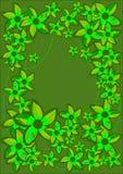 Green Flowers Frame. Stock Photo