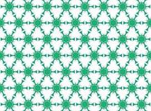 Green flowers hexagonal Royalty Free Stock Image