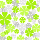Green flowers pattern Stock Image