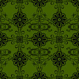 Green flowers vintage style wallpaper background Stock Image