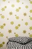 Bedroom wallpaper  Stock Photos