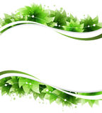 Abstract green flowers Stock Images