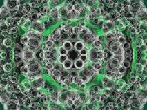 Green fluid background. A fluid circles background in black, green and grey Royalty Free Stock Photography