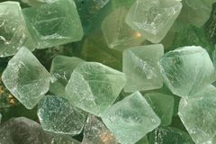 Green fluorite mineral background Stock Image