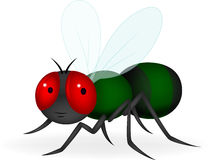 Green fly cartoon Stock Photo