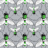 Green fly pattern Stock Photos
