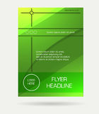 Green flyer brochure Stock Image