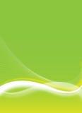 Green flyer design Royalty Free Stock Photo