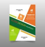 Green Flyer design. Business brochure flyer design template. Leaflet cover presentation Stock Photos