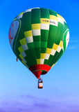 Green flying balloon Stock Photo