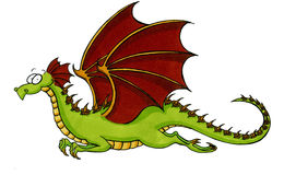 Green flying Dragon Stock Photo