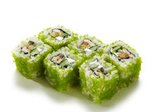 Green Flying Fish Roe Roll Royalty Free Stock Photo
