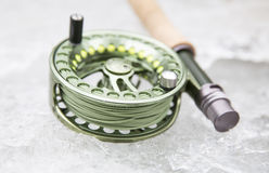 Green Flyrod Royalty Free Stock Photo