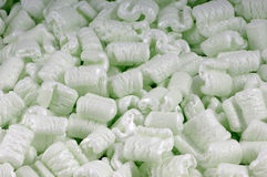 Green Foam Peanuts Royalty Free Stock Photo