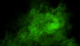 Green fog and mist effect on isolated background for text or space stock photography