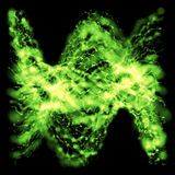 Green foggy wavy strings Royalty Free Stock Image