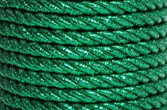 Green Foil Cord Making A Background Royalty Free Stock Images