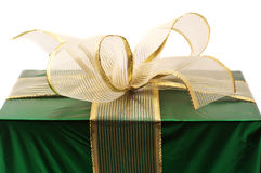 Green foil gift Royalty Free Stock Images