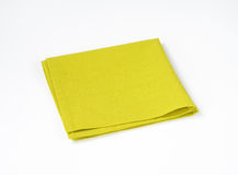 Green folded napkin Royalty Free Stock Images