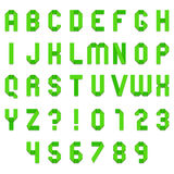 Green Folded Paper Font Stock Photo