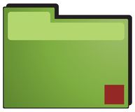 Green folder Stock Image