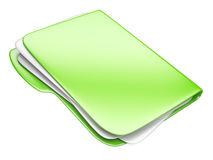 Green Folder icon, eco concept Royalty Free Stock Photos