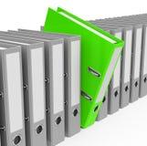 The green folder Stock Image