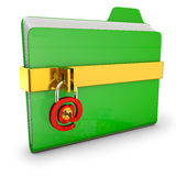 Green folder Stock Photography