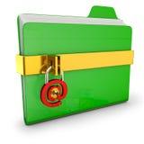 Green folder Stock Photography