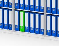The green folder Stock Photos