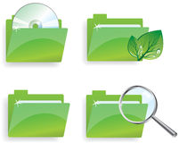 Green folders Royalty Free Stock Photo