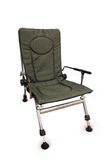 Green folding camp chair isolated Royalty Free Stock Photos