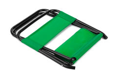 Green folding chair Stock Photography
