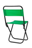 Green folding chair Royalty Free Stock Photography