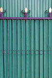 Green folding doors Iron Door Royalty Free Stock Images