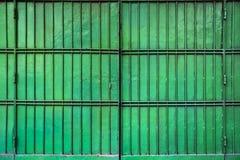 Green Folding Metal Gate Stock Photo