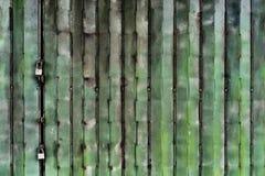 Green Folding Metal Gate Stock Image