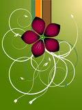 Green Foliage Flower Vector Stock Photography