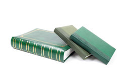 Green foliant books closeup Stock Photos