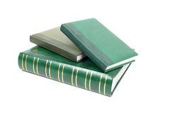 Green foliant books closeup Royalty Free Stock Photography