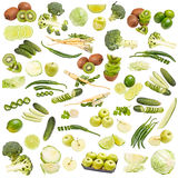 Green food collection Royalty Free Stock Photo