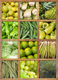 Green food collection Royalty Free Stock Images