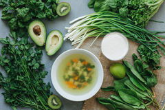 Green food delicious soup smoothie Stock Photography
