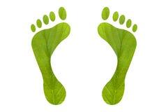 Green foot print human Royalty Free Stock Images