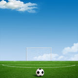 Green football Royalty Free Stock Images