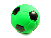 Green football. On the white background isolated Stock Image