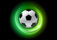 Green football Stock Image