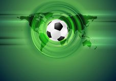 Green football abstract background with world map Stock Images