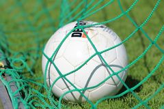 Green, Football, Ball, Grass Royalty Free Stock Photography