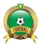 Green Football Club logo bevel with leaf stock images